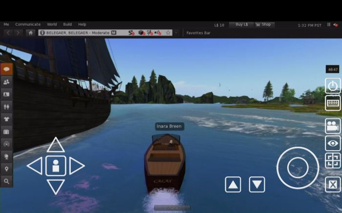 Going boating at Calas Galadhon - via tablet