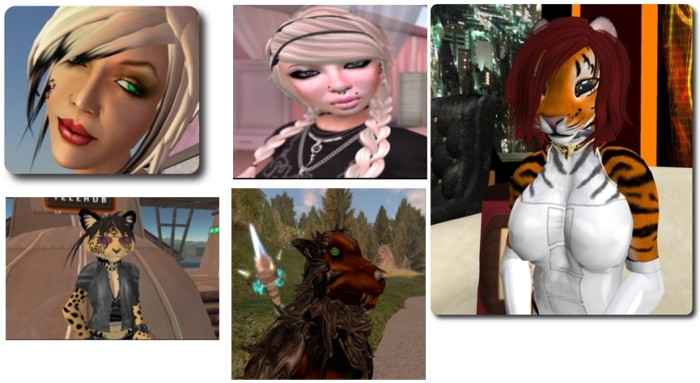 Some of the Firestorm dev team from top left): Nicky Dasmijn, Ansariel Hiller, Tonya Souther; (lower) Zi Ree, Techwolf  Lupindo