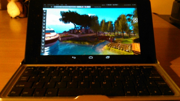 SL Go on my Nexus 7 HD + keyboard