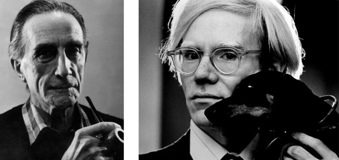 Marcel Duchamp and Andy Warhol - appropriations artists of their times?