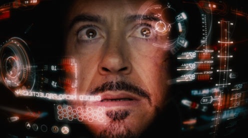 """SL's """"Riftlook"""" UI described as being a little like that seen in Iron Man's helmet, with information peripherally place (image courtesy of Marvel Studios  / Walt Disney Studios Motion Pictures)."""