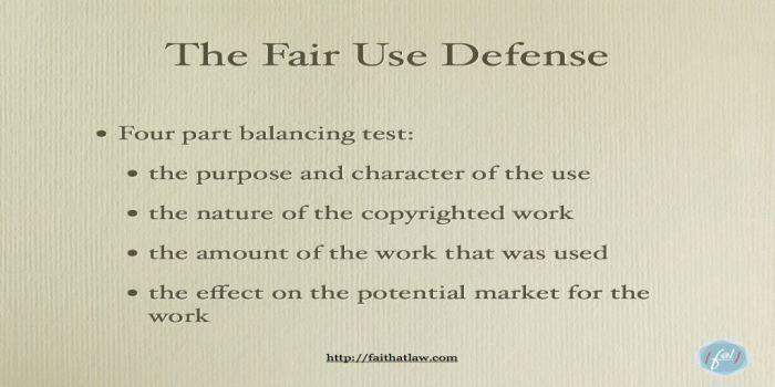 TF-007 Fair-use-defence