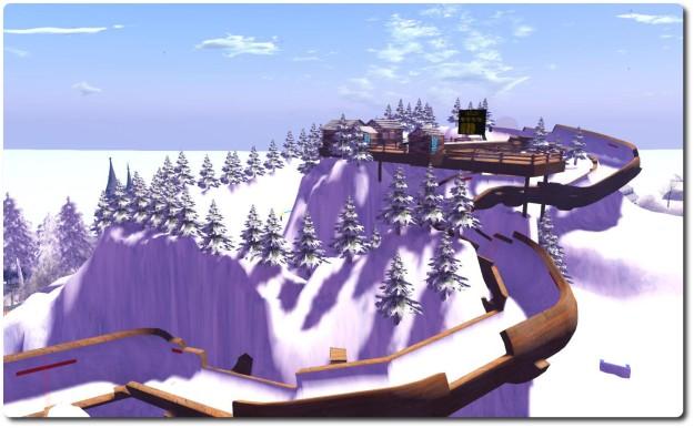 The SL Winter Games bobsleigh run.