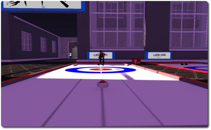 Giving curling a go in the arena