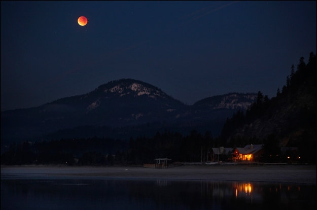 "A lunar eclipse ""blood moon"" seen Idaho, December 2011 (image: Matt Mills / Reuters)"