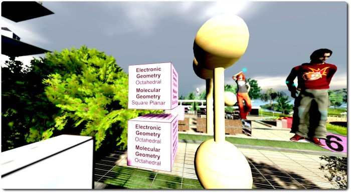 Students at Texas A&M University can learn about chemistry in a 3D environment in Second Life (image: Draxtor Despres)