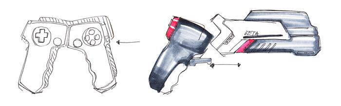 The three-part handset