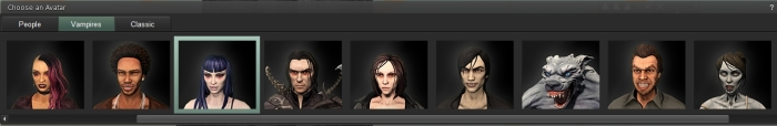 "The ""Vampire"" avatars - although ""Horror"" might have been a better title"