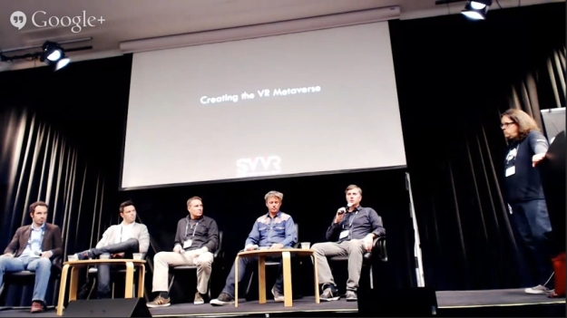 The panel and Bernard Drax (r) - image via Brian Hart / You Tube