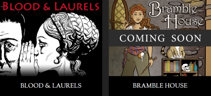 Blood and Laurels (due June 12th) and Bramble House will be the first two titles released under the new Versu banner