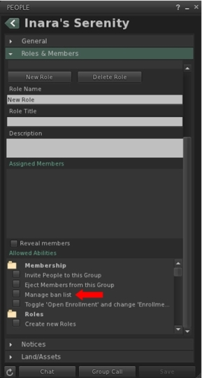 The ability to manage group bans can be assigned to any role, just like any other group ability