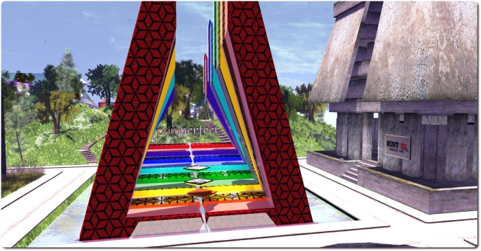 The Prim Perfect pavilion under construction at SL11BCC
