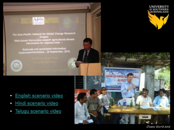 The ACSC-APN project in the Andhra Paresh region of India also used Second Life as a means to