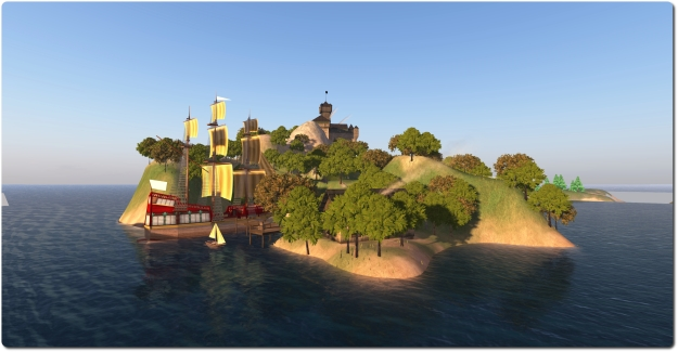 The Baronial Castle - a Linden Lab themed region