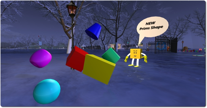Second Life History: the arrival of new primitive shapes (2004)