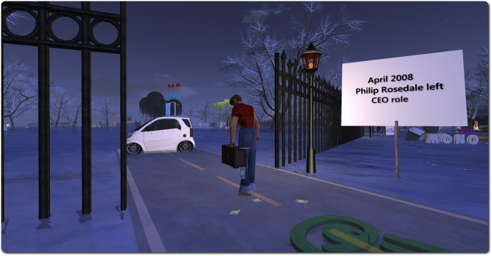 Second Life History: a whimsical look at Philip Rosedale vacating the CEO's chair
