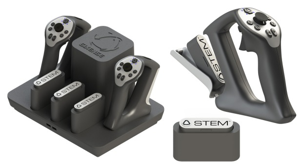 Low-cost VR offers temendous opportunities within VW environments. However with headsets liable to cost $300, control system like Sixense STEM (pictured) a further minimum of $300, hardware costs are unlikely to initially endear VR to the education market without some assistance