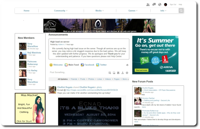 The site with ads displayed - they're not too intrusive, but people are liable to prefer things with something like Ad Block running ...