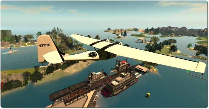 One of the great things about flying in SL is the chance to discover things - such as these glorious paddle steamers!