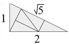A Conway triangle divided into 5 isometric copies of itself