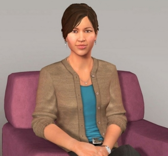 "Ellie is the ""face"" of SimSensei, part of a into the use of virtual tools and software to help address health issues"