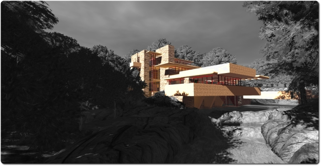 Fallingwater at Seanchai, Kitely (Image idea borrowed from Shandon Loring!)