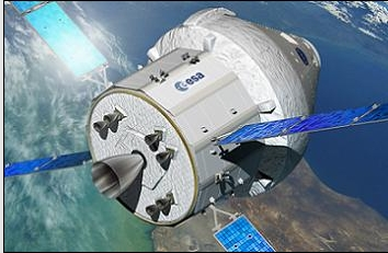 The first crewed mission of the Orion spece vheicle (seen here mated to is European-built service Module) may not now take place until April 2023