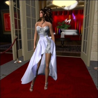 Second Life has provided Solas wearing one of her own gowns