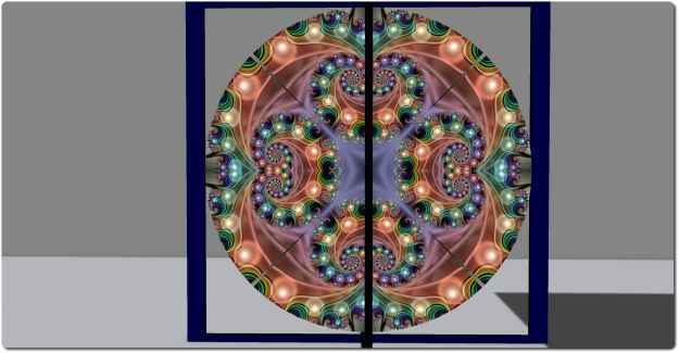 Spiral Silverstar's rotating fractal kaleidoscope
