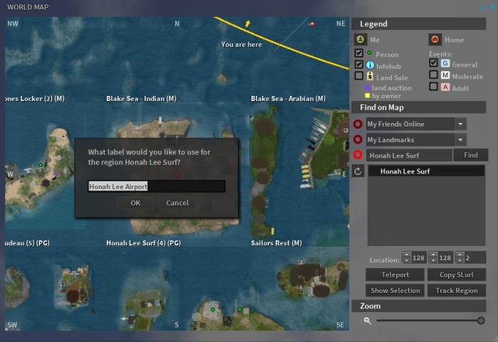Adding a region to the Region Tracker via the World Map and the Track Region button