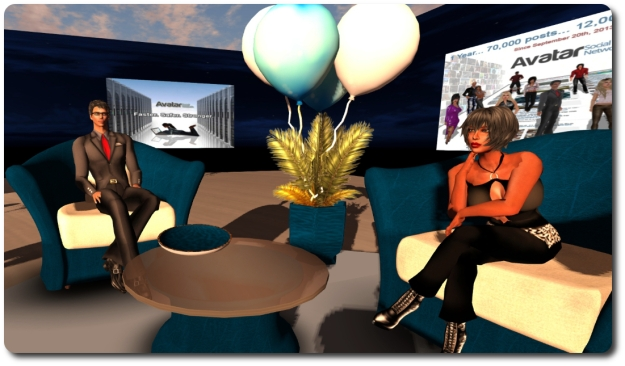 Meeting with Arkad at the party venue in SL
