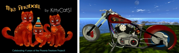 The Firestorm 4th anniversary KittyKat and custom bike from