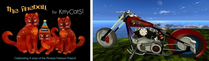 The Firestorm 4th anniversary KittyKat and custom bike from