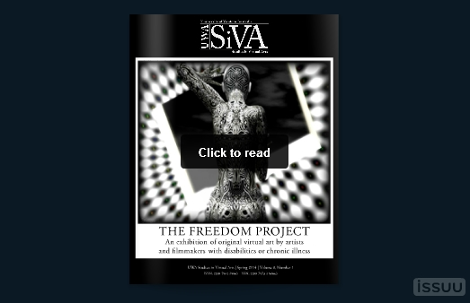 The Freddom Project book is now available in in or electronically as a part of the UWA's Studies in Virtual Arts (SiVA) series of e-journals