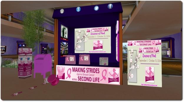 The MSABC information kiosk on the American Cancer Society island