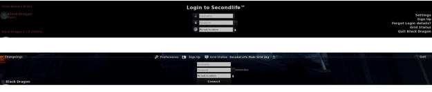 The old log-in credentials area for Black Dragon (top) and the cleaner, smarter new version (bottom) - click for full size