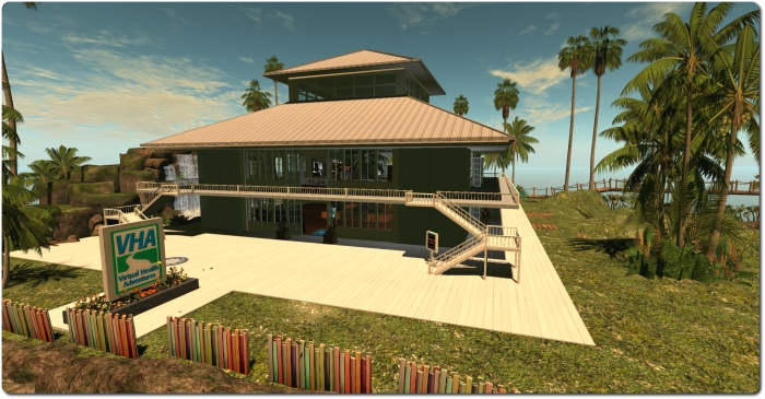 The main building at Virtual Health Adventures