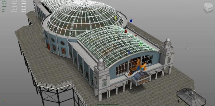 Loz's iconic The Arcade pier under development in Maya