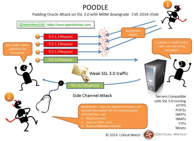 How a Poodle attack works (image courtesy of Critical Watch)