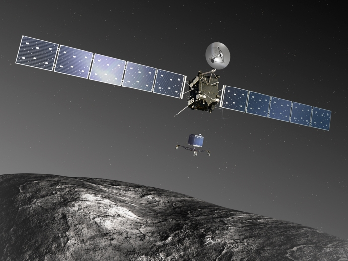 Rosetta and Philae (image: European Space Agency)