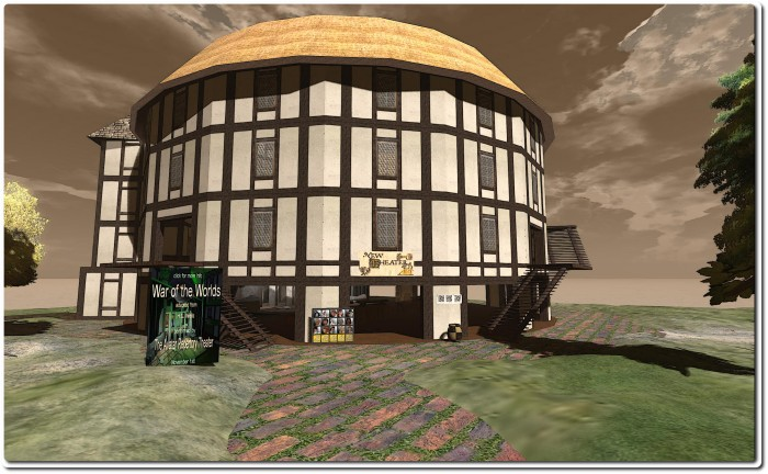 The Avatar Repertory Theatre Company's reproduction of the Globe Theatre in Second Life