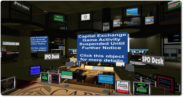 Capital Exchange has seen activity in its stock market simulation game frozen since the November 1st enforcement of the Lab's Skill Gaming Policy