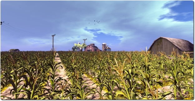 The cornfield, revamped in July, still provides a taster for SL Experiences - access it via the Portal Park