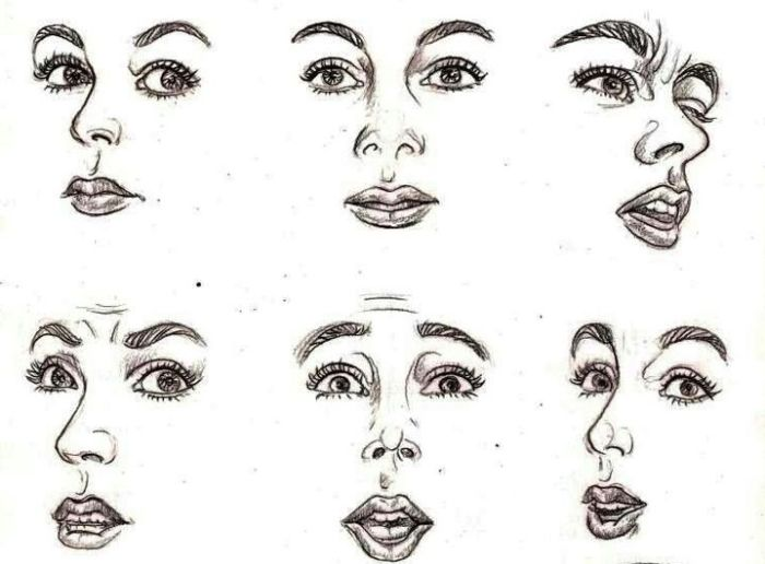 Can the facial expressions we use, exaggerated or otherwise, when talking with others be as much a part of out identity as our looks?