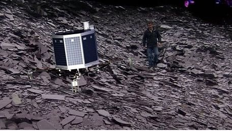 Rumours that Philae had to manoeuvre in order to avoid BBC Science Editor David Shukman are entirely false! (with apologies to the Daily Telegraph!)