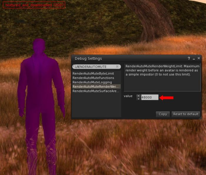 Currently, you can use the RENDERAUUTOMUTERENDERWEIGHTLIMIT option within the viewer to set a limit on rendering high-ARW avatars as solid colours in your viewer. You'll need to have RENDERAUTOMUTEFUNCTIONS set to 7 for it to work smoothly, and should note