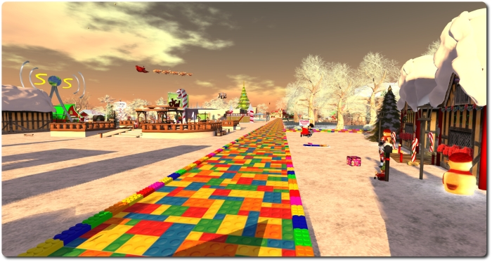 Follow the Lego Brick road ... the the Toys 4 Tots Expo