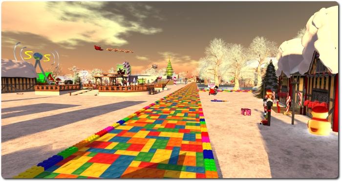 Follow the Lego Brick road ... the the Toys 4 Tots Expo