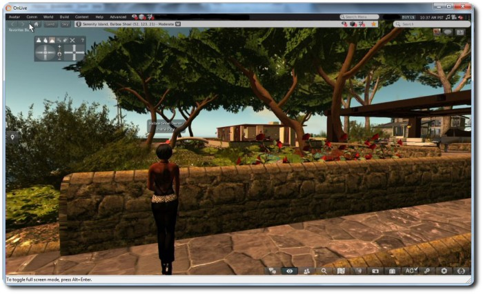 Firestorm viewer on SL Go from OnLive - click for full-size
