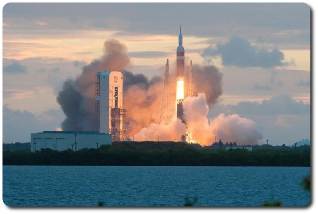 Orion EFT-1 lifts-off exactly on time, 12:05 UTC, on Friday, December 5th, 2014. A nice rezday treat for me! :)